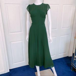 Reformation Green Dress